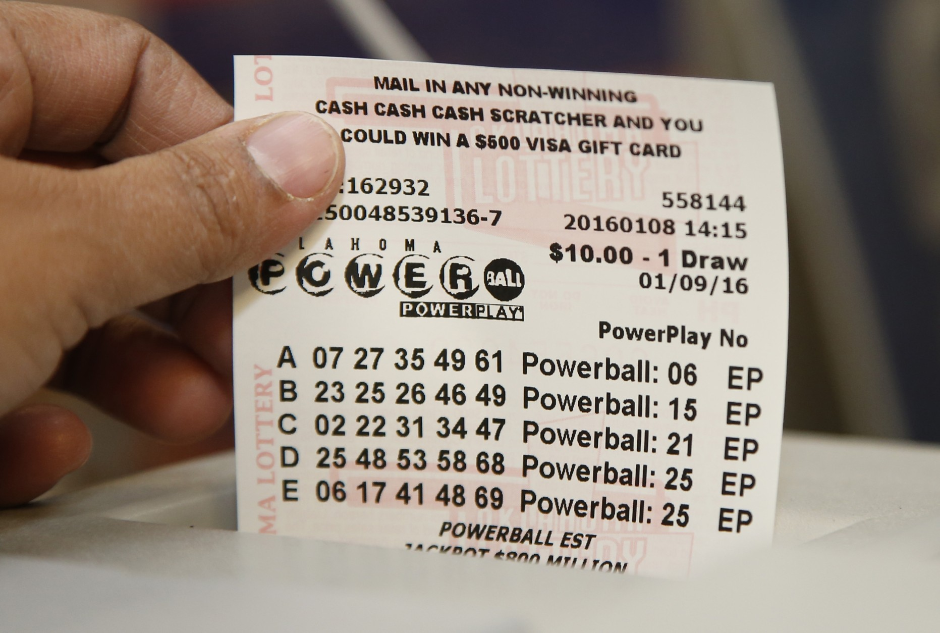 Powerball Results For 101216 Drawing Jackpot Worth 107M